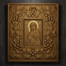 «Владимирская божья матерь»  в большой раме